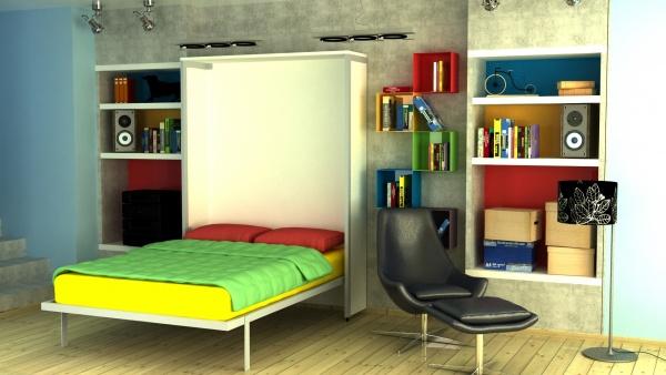 Zidni vertikalni bračni kreveti zatvoreni