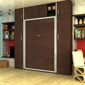 Vertikalni plakar pored vertikalnog zidnog kreveta Plakari - Online Prodaja - Vadras