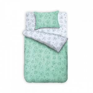 Posteljina za krevetac 140×200 – Šumsko carstvo Mint Bebi Program - Online Prodaja - Vadras