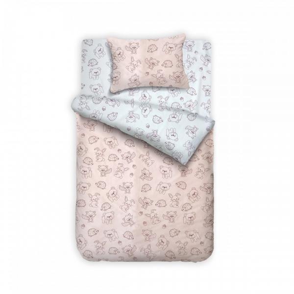 Posteljina za krevetac 140×200 Šumsko carstvo Bebi Program - Online Prodaja - Vadras