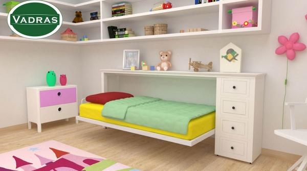 Premium krevet sa tapaciranim frontom i fiokama Dečija soba - Online Prodaja - Vadras